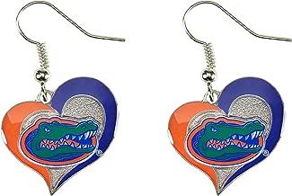 NCAA Florida Gators Swirl Heart Earrings