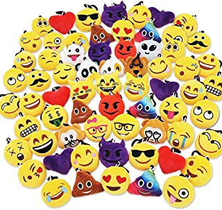 "Ivenf Pack of 50 5cm/2"" Emoji Poop Plush Keychain Birthday Party Favors Supplies.."