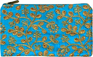 Kuber Industries Embroidery Women Hand Purse Wallet For Party, Wedding, Dating (Blue)