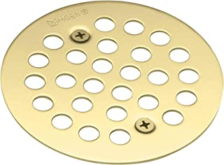 Moen 101664P Kingsley 4-1/4-Inch Screw-In Shower Strainer, Polished Brass