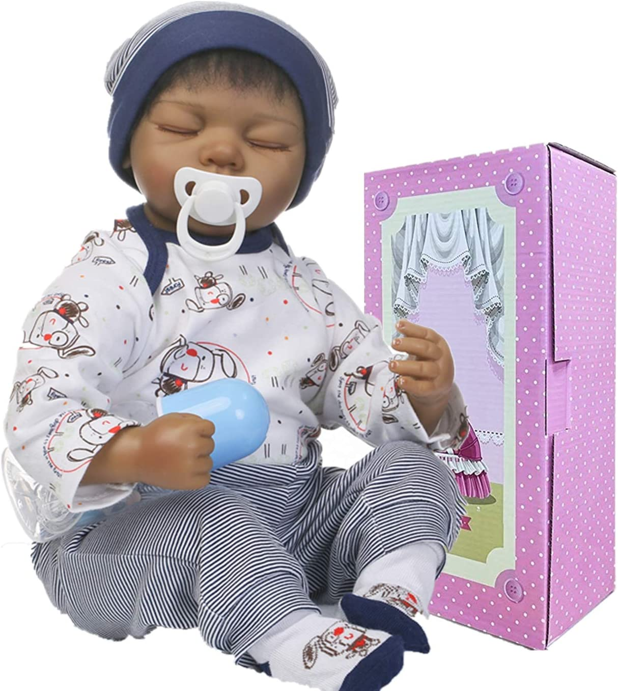 NPKTOYS African American Reborn Baby Max 52% OFF Soft Boy Sili Financial sales sale Doll Sleeping