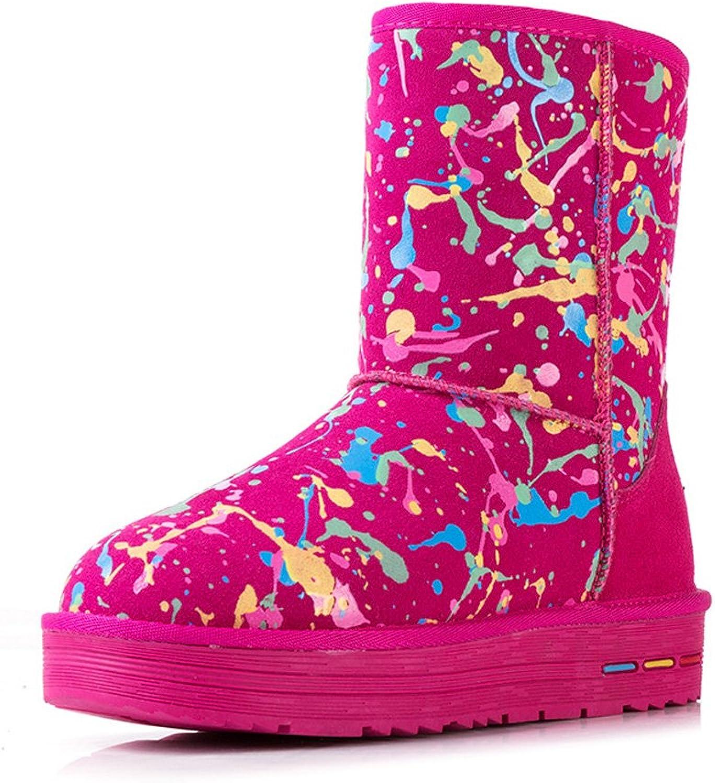 MCandy Women's Winter Anti-skid Warm Fashion graffiti Snow Boots