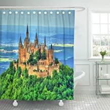 Emvency Shower Curtain 66x72 Inches View of Hohenzollern Castle in The Swabian Alps Baden Wurttemberg Germany Machine Washable