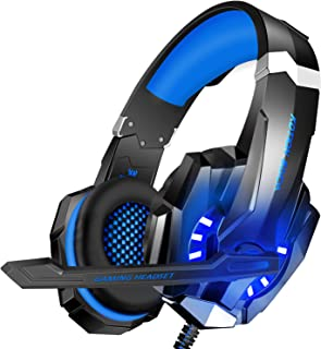 BlueFire 3.5mm Gaming Headset for Playstation 4 PS4 Xbox One Games Tablet Laptop, Over Ear Headphone with Mic and LED Ligh...