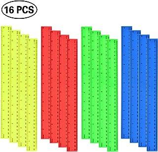 Gobesty 10 PEZZI Righello in plastica trasparente 15 cm 6 pollici Righello dritto con pollice e metrico Kit righello trasparente Strumento di misura per Student School Office