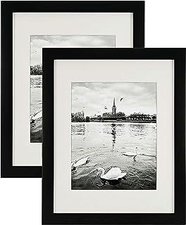 ArtzFolio Wall Photo Frame Black 8X10Inch;Set of 2 Pcs with Mount
