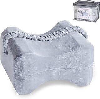 Urslif Almohada de espuma viscoelástica Premium con correa ajustable, cojines para las piernas para aliviar la ciática, dolor de espalda, dolor de piernas, embarazo, dolor de cadera y articulaciones