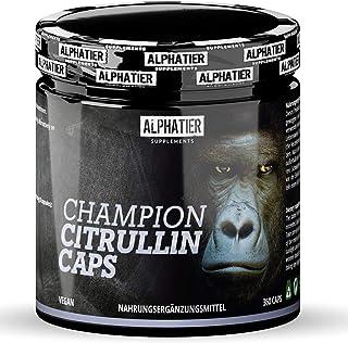 L-CITRULLIN Malate Capsules - 360 Caps hoge dosering + veganistisch - ALPHATIER CHAMPION L-Citrulline Malate DL 2:1 - Fitn...
