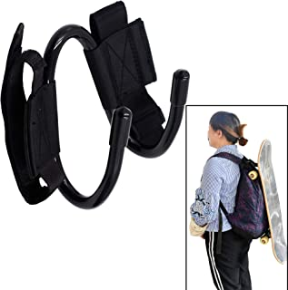 Backpack Attachment Carrier Hanger Rack Hook Holder for Carrying Mini Cruiser, Cruiser Board,Skateboard - Fit Most Backpacks - Easy to Use - No Backpack