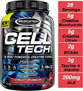 Muscletech Cell Tech Performance 系列粉末 3 lb 3.09