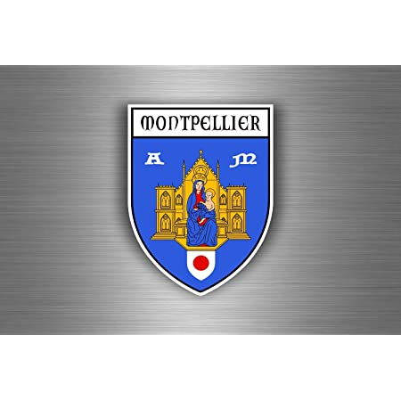 Akachafactory Aufkleber Sticker Auto Motorrad Wappen Montpellier Region Armoirie Flagge Auto