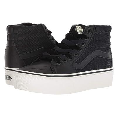Vans SK8-Hi Platform 2.0 ((Leather) Snake/Black) Skate Shoes