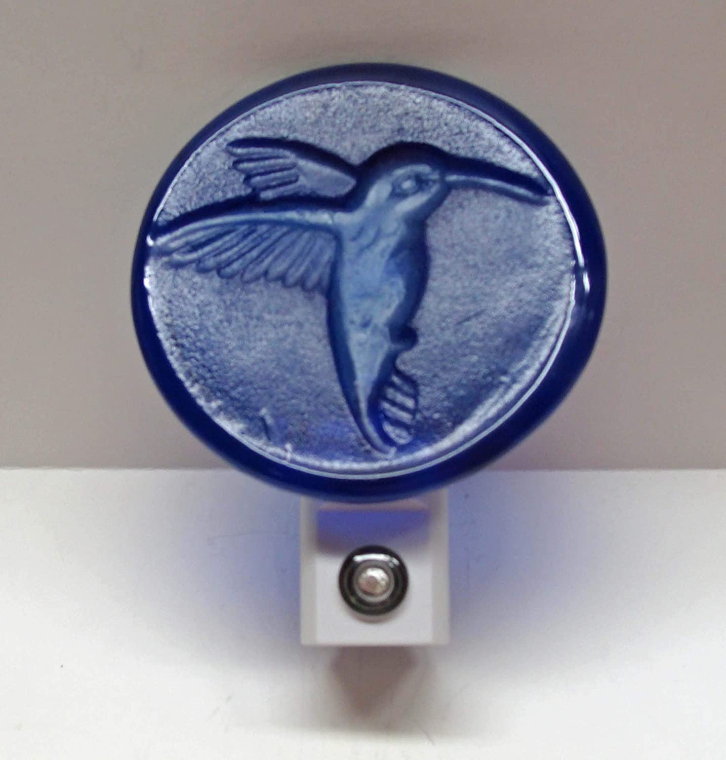 Cobalt Blue Hummingbird Up-Cycled Wine Our shop most popular Handmade LC Bottom Bottle Sale SALE% OFF