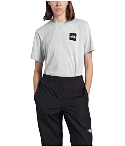 The North Face Box Short Sleeve Tee (TNF Light Grey Heather) Women