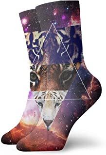 Purple Space Background Compression Socks For Women 3D Print Knee High Boot