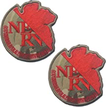 Neon Genesis Evangelion NERV Organization US Army USA Embroidered MilitaryTactical Moral Patch Badge for Uniform Cosplay -...