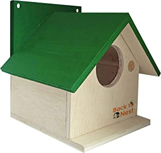 BackToNest Bird House Nest Box for Sparrow, Finches, Garden Birds -BVN5