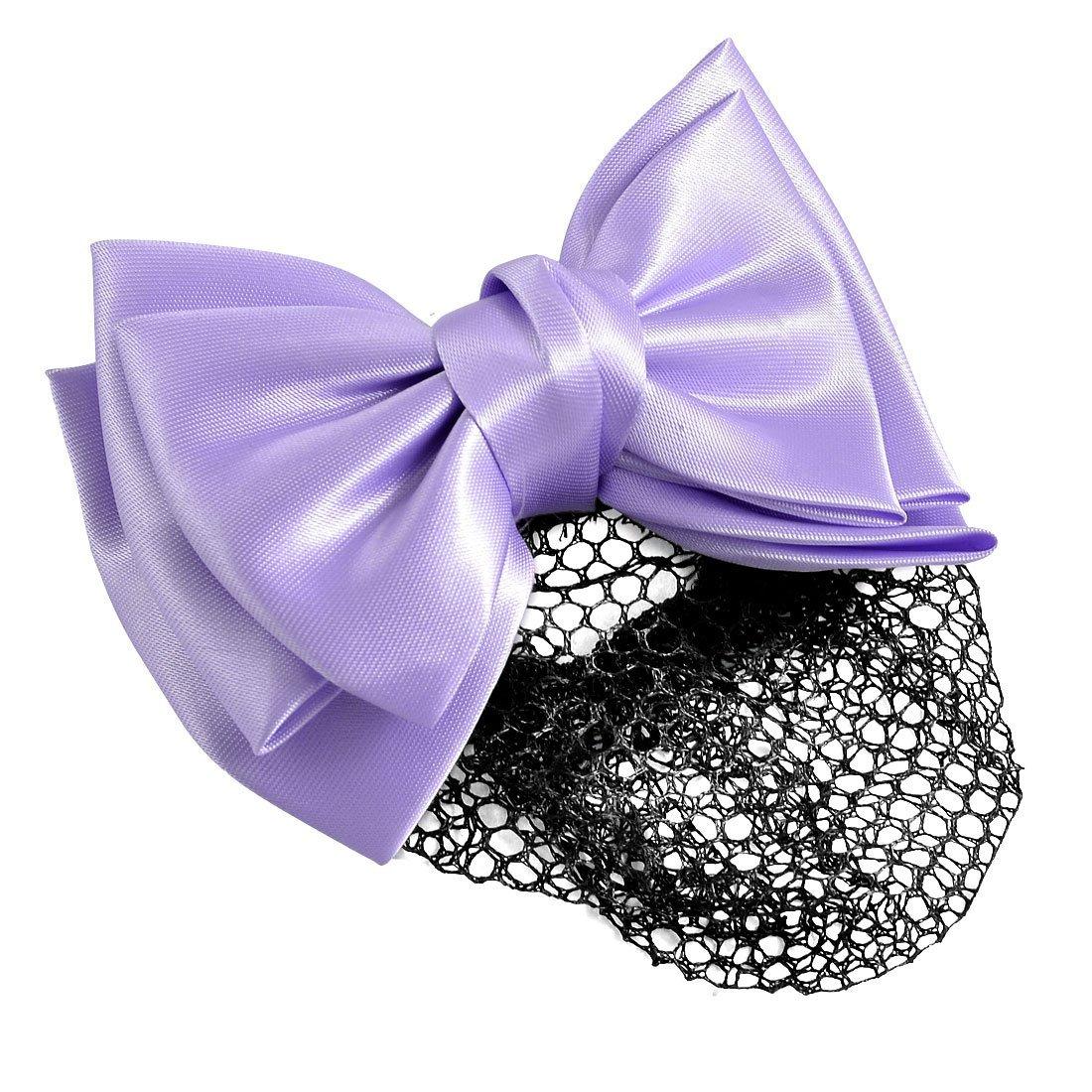 YeVhear Bowknot Net Snood Hair Black Clip New York Mall 0.05 pounds Purple Virginia Beach Mall