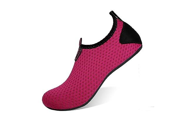 d4b8c942e71b HEETA Water Sports Shoes for Women Men Quick Dry Aqua Socks Swim Barefoot  Beach Swim Shoes