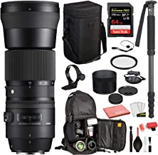 $916 » Sigma 150-600mm f/5-6.3 DG OS HSM Contemporary Lens for Nikon F (745-306) with Bundle Package Deal Kit Includes: UV Filter + SanDisk Extreme Pro 64gb SD Card + More