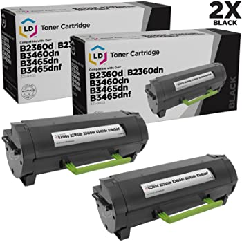 B3465dnf RGCN6, 4 Pack use in Dell B2360d B2360dn The House of Toner Compatible Toner Cartridge Replacement for DELL 331-9803 B3460dn B3465dn