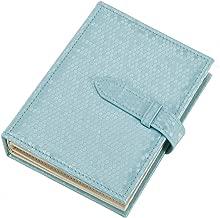 iSuperb Earring Organizer Book Design Travel Jewelry Storage Case Tray Holder for Girls Gift 7.3x5.5x1.8inch (Blue)