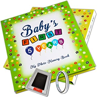 Baby Memory Book - Baby Scrapbook and Record Book for Boys and Girls - Baby Keepsake Book and Album - Baby First 5 Years B...