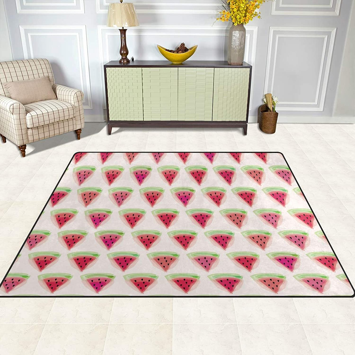 FAJRO Watermelon Pattern Rugs for entryway Doormat Area Rug Multipattern Door Mat shoes Scraper Home Dec Anti-Slip Indoor Outdoor