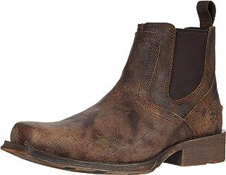 حذاء Ariat Midtown Rambler - جلد للرجال، إصبع مربع، جزمة غربية