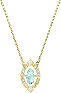 Swarovski Women's Gold-Tone Plated Green Crystal Sparkling Dance Necklace 5497474