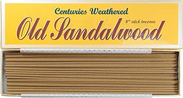 Indian Centuries Weathered Old Sandalwood 8 Stick Incense 100 Natural L007T