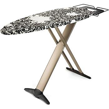 "Bartnelli Pro Luxury Ironing Board - Extra Wide 51x19"" Steam Iron Rest, Adjustable Height, T-Leg Foldable, European Made"