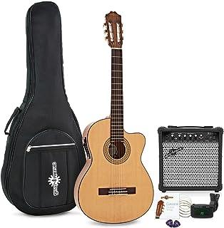 Paquete de Guitarra Clásica Electroacústica Deluxe con Cutaway + Amplificador de 15 W