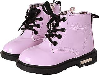 YWPENGCAI Kids Waterproof Martin Boots Boys Girls Ankle Boots (Toddler, Little Kid)