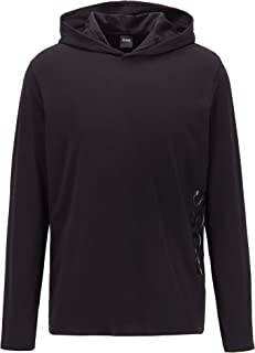 BOSS Mens Identity LS-Shirt H. Hooded Pyjama T-Shirt in Stretch Cotton