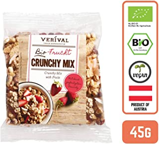 Verival Organic Crunchy Granola Mix with Fruits (Grab & Go), 45 g