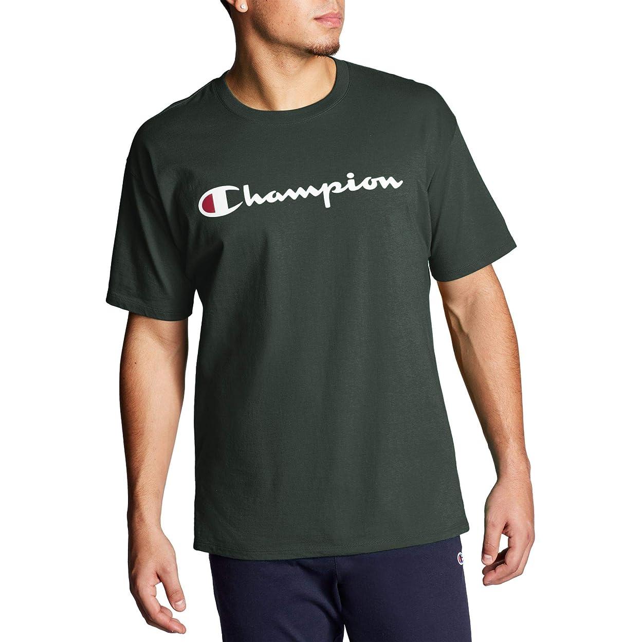アルカイック達成する後[チャンピオン] メンズ シャツ Champion Men's Script Jersey Graphic Tee [並行輸入品]