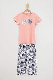 DeFacto Baskılı Örme Pijama Takımı