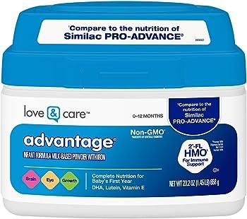 Love & Care Advantage Infant Formula 23.2 Ounce Milk-Based Powder