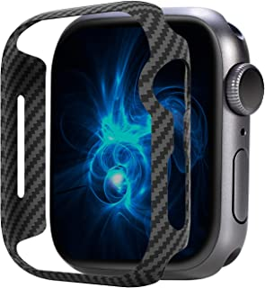 PITAKA Air Case for Apple Watch 44mm Series 4/5 Slim Genuine Aramid Fiber Exquisite Refined Minimalist Apple Watch Case with Snug Fitment - Black