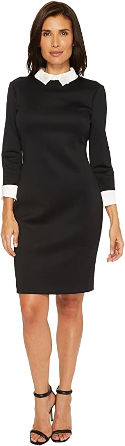 Ivanka Trump - Scuba White Collar Shirtdress