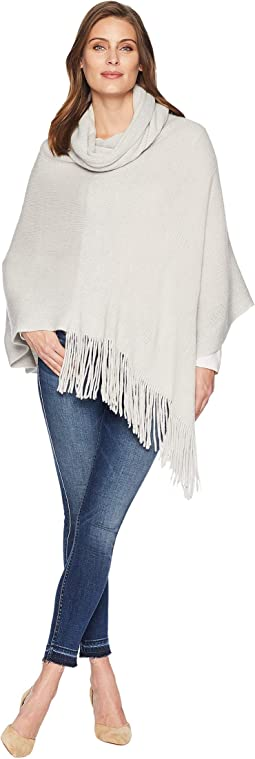 Metallic Stripe Wrap Knit Topper