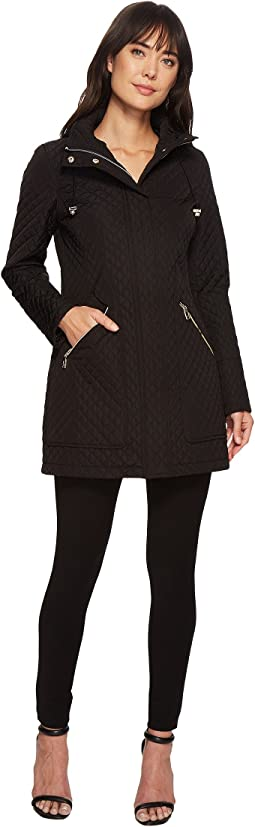 Ivanka Trump Oversized Pocket Hooded Quilted Coat