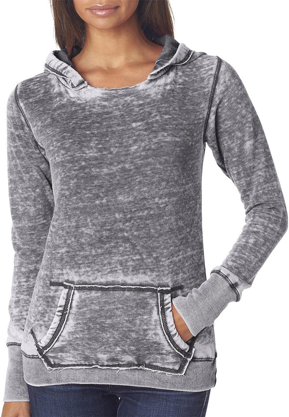 J. America Women's Ladies Zen Pullover Hooded Sweatshirt