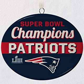 Hallmark New England Patriots Super Bowl LIII Commemorative Ornament City & State; Sports & Activities