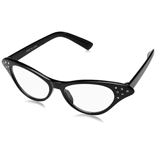 8bc8031d01 Hip Hop 50s Shop Womens Cat Eye Rhinestone Glasses