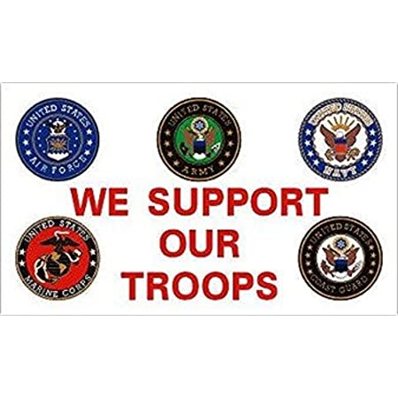 Amazon Com Americas Americas 3x5 Flag We Support Our Troops Branches Outdoor Military Flags Garden Outdoor