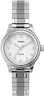 ساعة هايلاند ستريت للنساء بسوار توسيع مقاس 28 ملم من تايمكس طراز TW2U09300