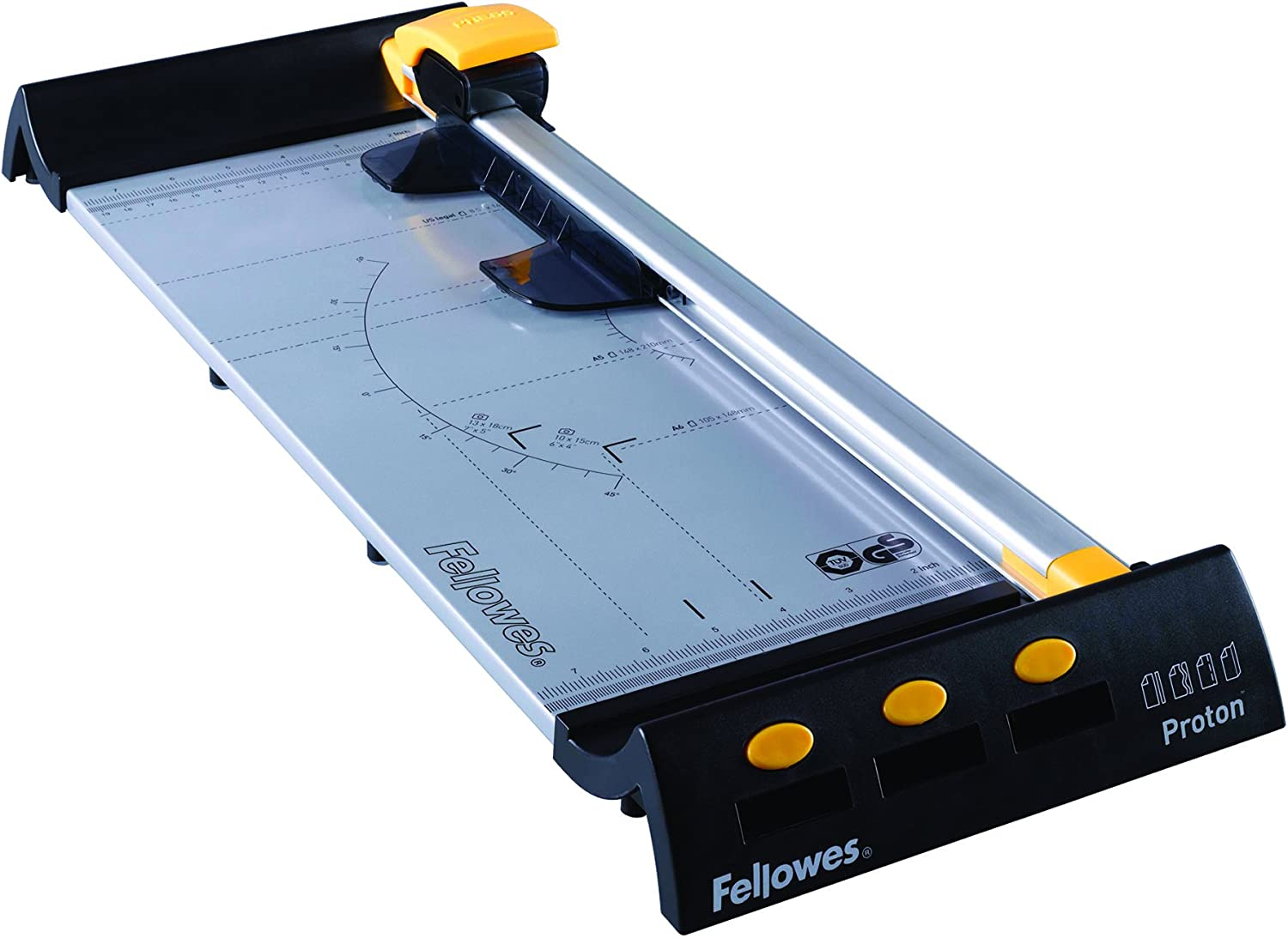 Fellowes Proton We OFFer at cheap prices 5410301 Trimmer - 1 45 s x Chicago Mall Blade 10Sheet Cuts
