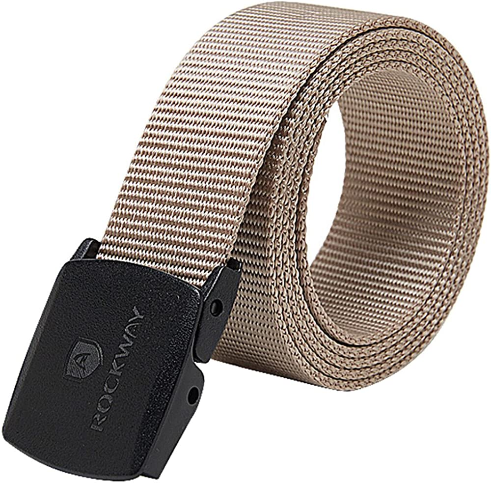 RockWay Unisex Webbing Belt with Removable Plastic Buckle Quick Release 1.5inches Wide